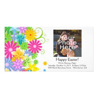 Manojo colorido de la flor de Pascua Tarjetas Personales Con Fotos