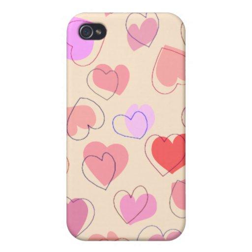 Manojo de corazones iPhone 4 fundas