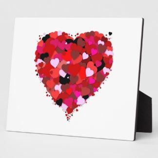Manojo de corazones placas con fotos
