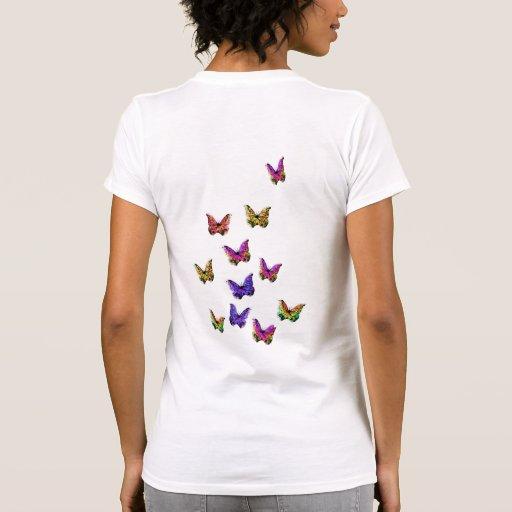 Manojo de diseños de Tumommy de las mariposas Camiseta