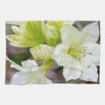Manojo de flores salvajes blancas toallas