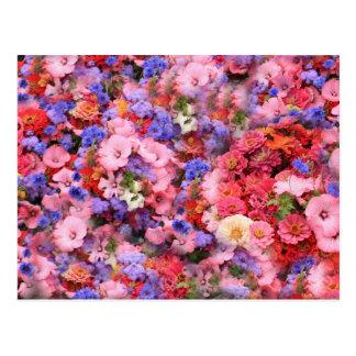 Manojo de flores tarjetas postales