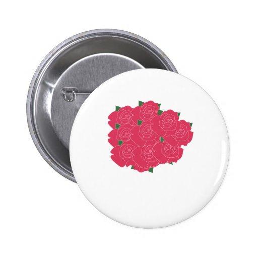 Manojo de insignia del botón de los rosas pin