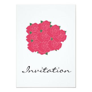 Manojo de invitación rosada de los rosas