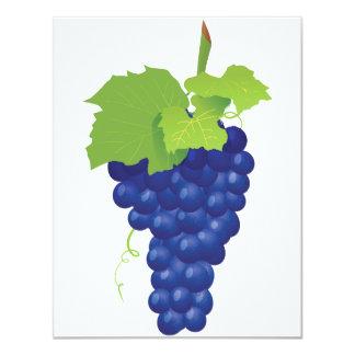"""Manojo de invitaciones de las uvas invitación 4.25"""" x 5.5"""""""