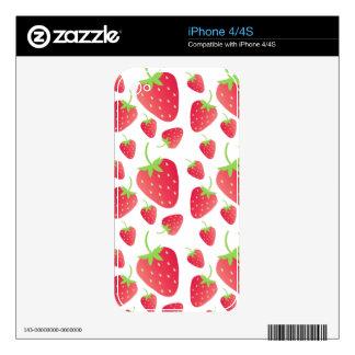 Manojo de la fresa calcomanías para el iPhone 4S