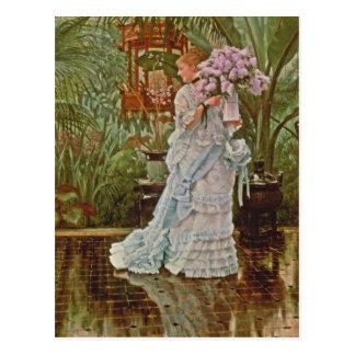 Manojo de las lilas c1875 postales