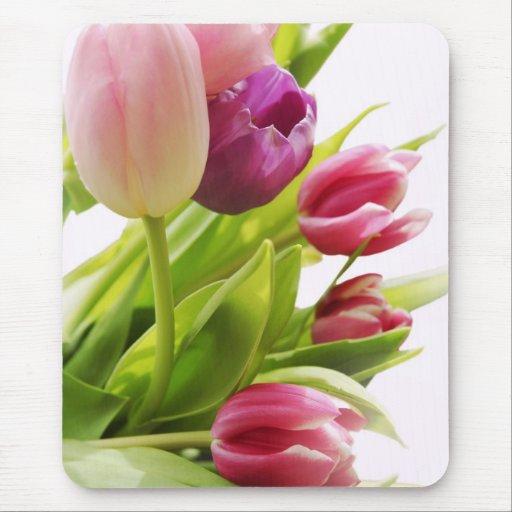 Manojo de los tulipanes alfombrillas de raton