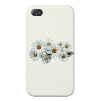 Manojo de margaritas blancas iPhone 4/4S carcasa