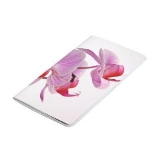 Manojo de orquídeas rosadas elegantes cuaderno
