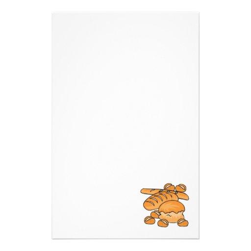 manojo de pan y de rollos  papeleria de diseño