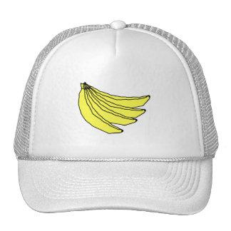 Manojo de plátanos amarillos gorra