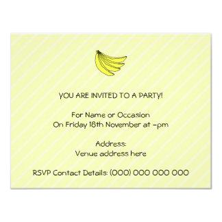 """Manojo de plátanos amarillos invitación 4.25"""" x 5.5"""""""
