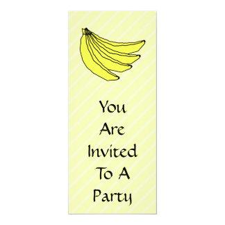 """Manojo de plátanos amarillos invitación 4"""" x 9.25"""""""