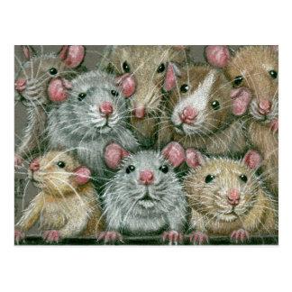 Manojo de ratas en la postal de la reunión de Ratt
