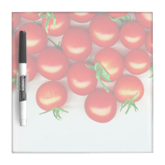 Manojo de tomates frescos tableros blancos