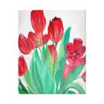 Manojo de tulipanes rojos impresiones en lona
