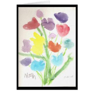 Manojo de tulipanes tarjeta pequeña