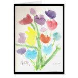 Manojo de tulipanes tarjeton