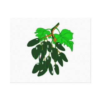 Manojo de verde de las pimientas lienzo envuelto para galerías