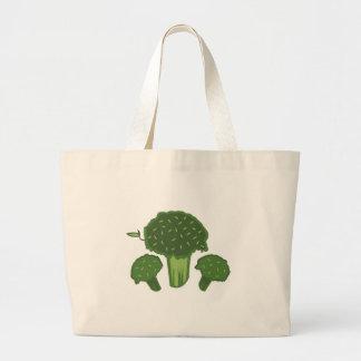 Manojo del bróculi bolsa tela grande