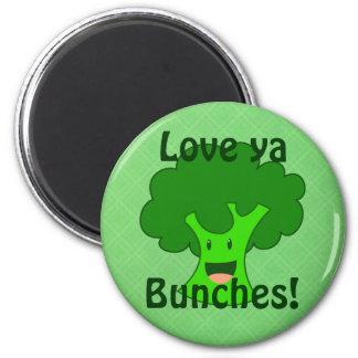 Manojo del bróculi iman para frigorífico