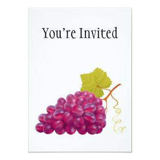 """Manojo delicioso de uvas rojas invitación 5"""" x 7"""""""