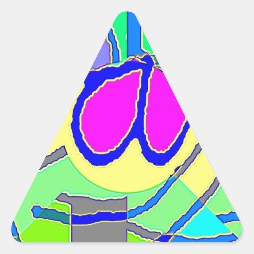 Manojo entero 48 pegatina triangular