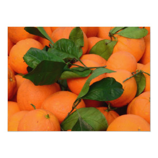 """Manojo precioso de naranjas invitación 5.5"""" x 7.5"""""""