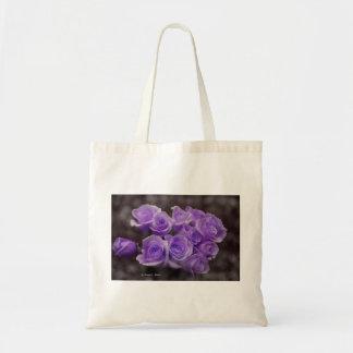 Manojo subió colorized púrpura bolsas