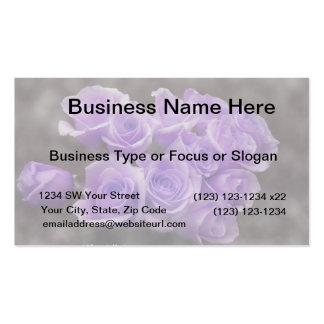 Manojo subió colorized púrpura plantilla de tarjeta personal