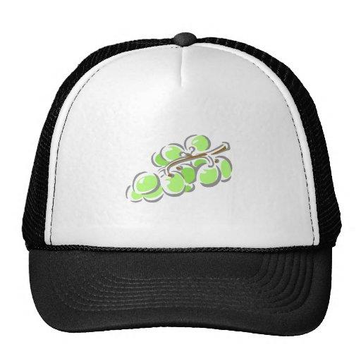 Manojo verde de las uvas gorro de camionero
