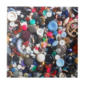 Manojos de botones azulejo cuadrado pequeño