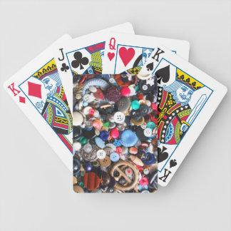 Manojos de botones baraja cartas de poker