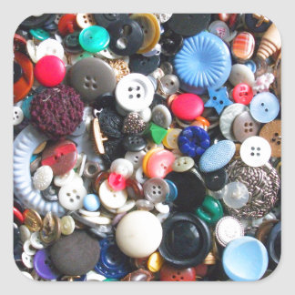 Manojos de botones pegatina cuadrada