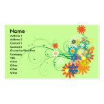 manojos de la flor de vector de los remolinos tarjetas de visita