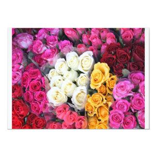 """Manojos de rosas en invitaciones invitación 5"""" x 7"""""""