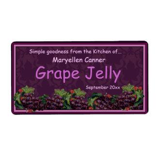 Manojos de uvas para los tarros del atasco o de la etiqueta de envío