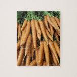 Manojos de zanahorias, marco completo rompecabezas con fotos