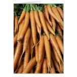 Manojos de zanahorias, marco completo felicitacion