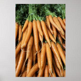 Manojos de zanahorias impresiones