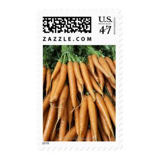 Manojos de zanahorias sello postal