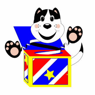 Manoplas del gato de Skrunchkin en caja colorida Esculturas Fotográficas