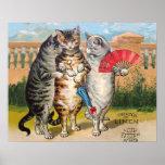 Manoplas perdidas de los pequeños gatitos del vint poster