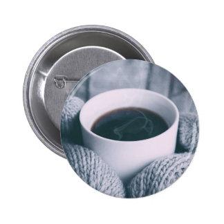 Manoplas y taza de café pin redondo 5 cm