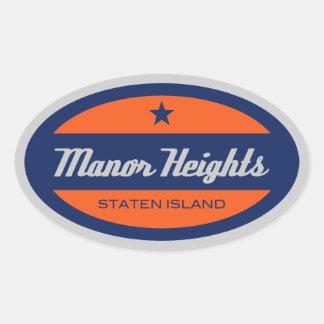 Manor Heights Oval Sticker
