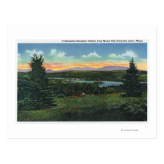 Manor Hill Overlooking Rangeley Village Scene Postcard