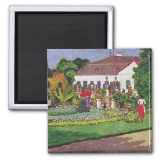 Manor House in Kertvelyes, 1907 2 Inch Square Magnet