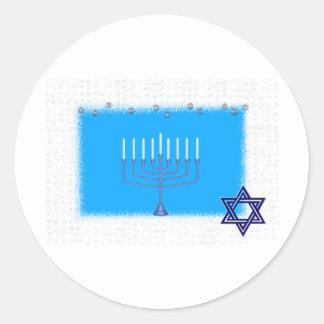 manorah star classic round sticker