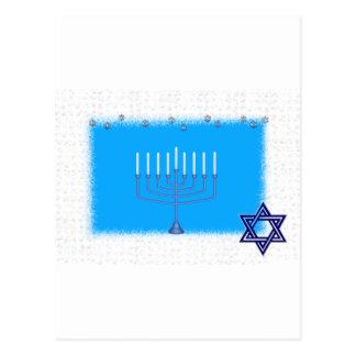 manorah star postcard
